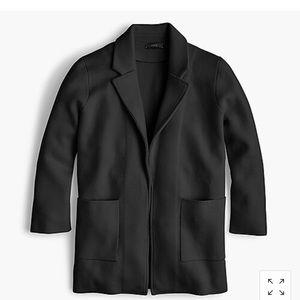 J.CREW black Sophie open-front sweater-blazer